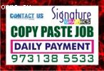 Bangalore Lingarajpuram jOBS Copy paste Job Daily payment  D