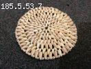 "Sea shell coaster 9"". Polished seashell place mat"